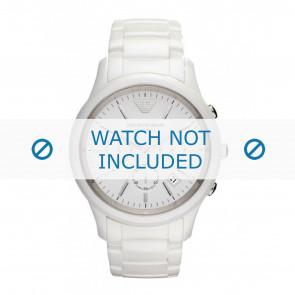 Armani horlogeband AR1453 Keramiek Wit 22mm