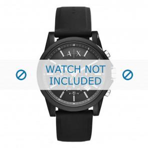 Armani horlogeband AX1326 Silicoon Zwart