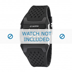 Calypso horlogeband K5563 Rubber Zwart