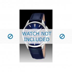 Candino horlogeband C4517-3 Leder Blauw + blauw stiksel
