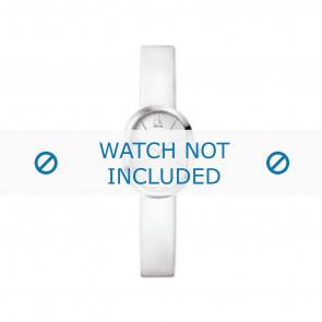 Calvin Klein horlogeband K37232 Leder Wit