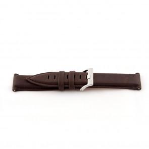 Prawdziwy Skóra Pasek Do Zegarka Środek Brązowy 22mm Ex-G119