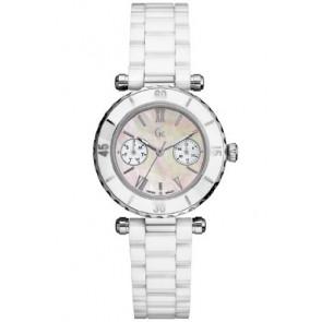 Guess horlogeband GC35003L Keramiek Wit