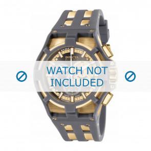 Invicta horlogeband 0637-01 Rubber Grijs