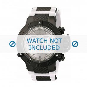 Invicta horlogeband 11840 Rubber Wit