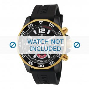 Invicta horlogeband 7434 Rubber Zwart 22mm