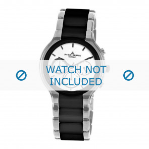 Jacques Lemans horlogeband 1-1580B Keramiek Zilver