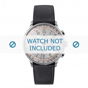 Junghans horlogeband 027/3380.00 Leder Zwart 21mm + standaard stiksel