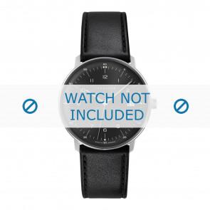 Junghans horlogeband 041/4462.00 Leder Zwart 20mm + standaard stiksel