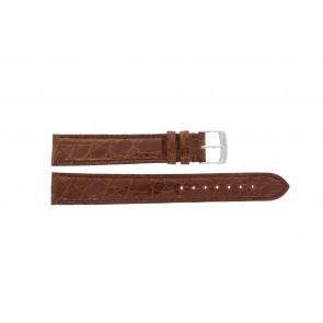 Morellato horlogeband Amadeus XL G.Croc Gl K0518052041CR18 / PMK041AMADEU18 Krokodillenleer Bruin 18mm + standaard stiksel