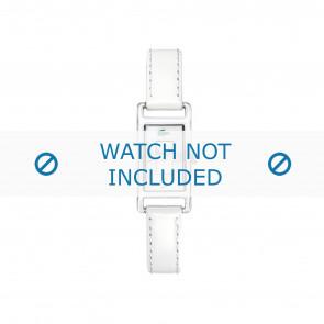 Lacoste horlogeband 2000367 / LC-05-3-19-0066 Leder Wit 12mm + wit stiksel