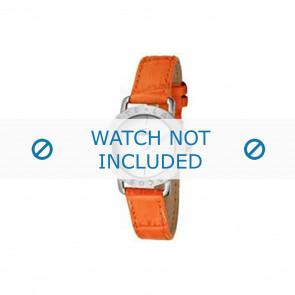 Lacoste horlogeband 2000513 / LC-05-3-14-0167 Leder Oranje 13mm + oranje stiksel