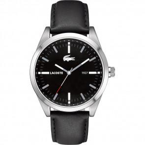 Pasek do zegarka Lacoste 2010611 / LC-52-1-14-2277 Skórzany Czarny 22mm