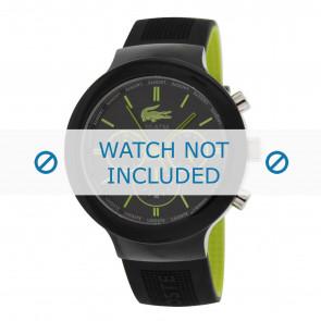 Lacoste horlogeband 2010650 / LC-61-1-29-2347 Rubber Zwart 16mm