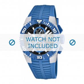 Lotus style horlogeband 15778.3 Rubber Lichtblauw