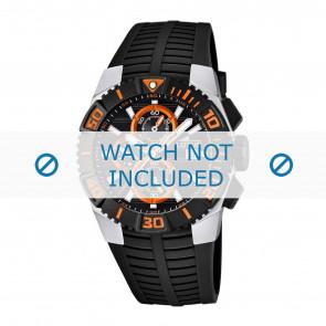 Lotus style horlogeband 15778.5 / 15778.6 / 15778.7 / 15778.8 Rubber Zwart