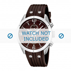 Lotus style horlogeband 15969-3 Rubber Bruin 23mm