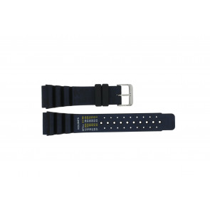 Dutch Forces horlogeband 12750-BL Rubber Blauw 24mm