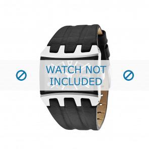 Police horlogeband 13420JS-02A Glad leder Zwart