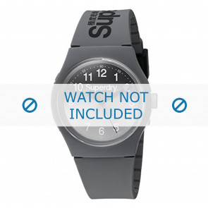 Superdry horlogeband SYG198EE Kunststof / Plastic Grijs