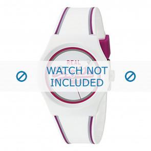 Superdry horlogeband SYG198WR Kunststof / Plastic Wit