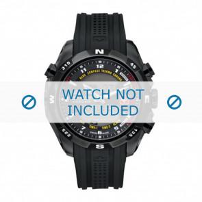 Swiss Military Hanowa horlogeband 06-4174.13.007 Rubber Zwart 22mm