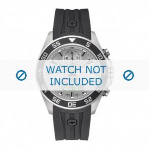 Swiss Military Hanowa horlogeband 06-4222.04.009 Rubber Zwart 24mm
