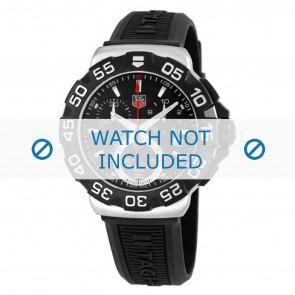 Tag Heuer horlogeband BT0714 Rubber Zwart