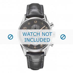 Tag Heuer horlogeband CAR2013-FC6313 Leder Grijs + grijs stiksel