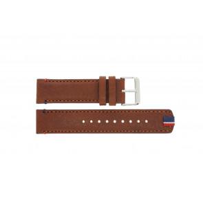 Tommy Hilfiger horlogeband TH-248-1-14-1685 / TH679301739 Leder Bruin + bruin stiksel