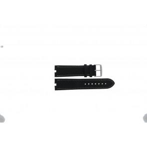 Tommy Hilfiger horlogeband TH-38-1-14-0686 ALT 307.01 Leder Zwart 24mm + wit stiksel