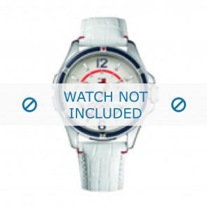 Tommy Hilfiger horlogeband TH-78-3-18-0793 / TH1780861 Leder Wit + wit stiksel