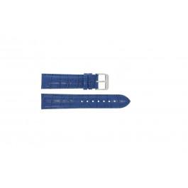 Pasek do zegarka Uniwersalny 285.05 Croco skóra Niebieski 24mm