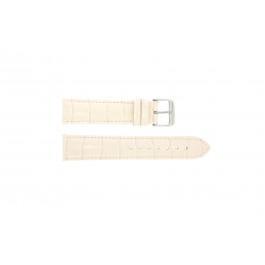 Pasek do zegarka Uniwersalny 285R.15 Croco skóra Różowy 22mm