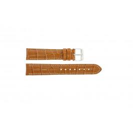 Pasek do zegarka Uniwersalny 285R.27 Croco skóra Brązowy 22mm
