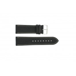 Pasek do zegarka Uniwersalny 307L.01 XL Skórzany Czarny 18mm