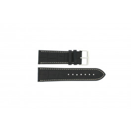Pasek do zegarka Uniwersalny 308.01 Skórzany Czarny 24mm