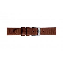 Morellato horlogeband Livorno D0116372041CR08 / PMD041LIVORL08 Hagedissenleer Bruin 8mm