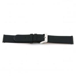 Pasek do zegarka Uniwersalny 800R.01 Skórzany Czarny 22mm