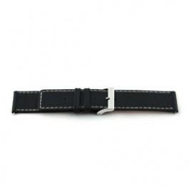 Pasek do zegarka Uniwersalny N110 Skórzany Czarny 34mm