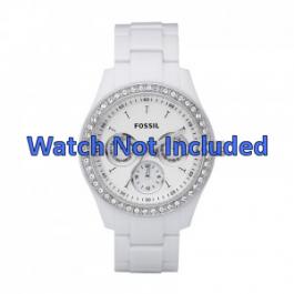 Pasek do zegarka Fossil ES1967 Plastikowy Biały 9mm