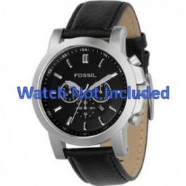 Pasek do zegarka Fossil FS4247 Skórzany Czarny 22mm