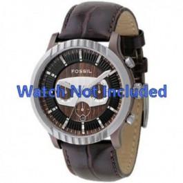 Pasek do zegarka Fossil FS4441 Skórzany Brązowy 27mm