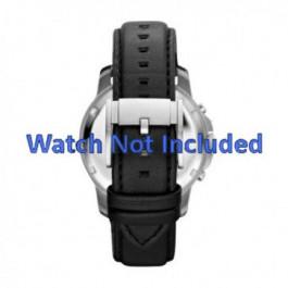 Pasek do zegarka Fossil FS4647 Skórzany Czarny 22mm
