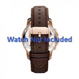 Pasek do zegarka Fossil FS4648 Skórzany Brązowy 22mm