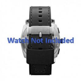 Pasek do zegarka Fossil FS4731 Skórzany Czarny 24mm