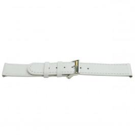 Pasek do zegarka Uniwersalny H500 Skórzany Biały 22mm