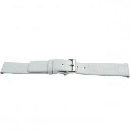 Pasek do zegarka Uniwersalny H520 Skórzany Biały 22mm