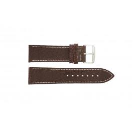 Pasek do zegarka Uniwersalny I320 Skórzany Brązowy 24mm