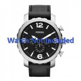Pasek do zegarka Fossil JR1436 Skórzany Czarny 24mm